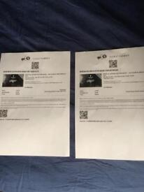 2 x tickets for Chemical Brothers DJ at Printworks Saturday 2nd December