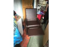 Unused leather reclining chair for sale