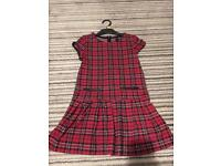 Red plaid dress (Next) aged 8yrs