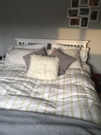 WHITE SHAKER STYLE DOUBLE BED FRAME