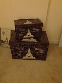 Decorative storage/toy boxes £25