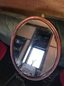 Lovely Oval vintage heavy mirror