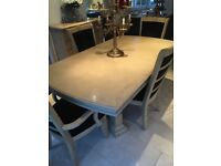 Furniture Village 6 seater extended table dining table with chairs
