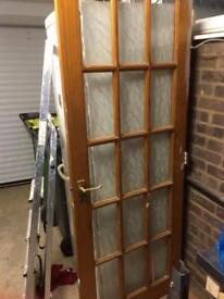 Pine glazed door