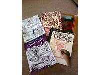 Colouring and drawing books