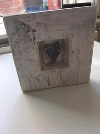 Wooden heart picture