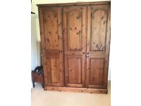 Ducal wardrobe, dressing table, 2 bedside tables and drawers dark wood Used but in good condition