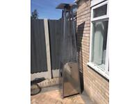 Pyramid garden patio heater outdoor use. Comes with cover