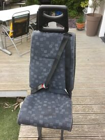 Seats with integrated 3 point belt by Restcroft