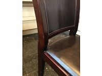 6 Wooden Brown Dining Chairs