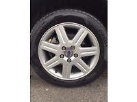 """Volvo alloys c30 s40 v50 16"""" alloy wheels tyres Pirelli 5 stud"""