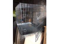 Double Door Dog Transport Cage