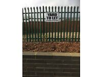 Secure yard for car parking to let