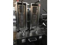 Double donner kebab machine - 3 large burners - good condition - fully working
