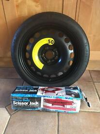 Vauxhall mokka spare tyre with spanner and jack