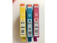 HP cartridges - 364: one each of Cyan, Magenta and Blue