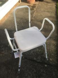 Collection of Bathing Mobility Aids: Chair, Stool, Step & Bath bench