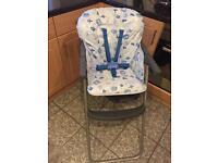 Mothercare Blue & Grey Highchair