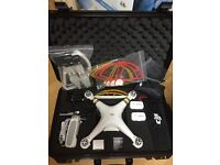 DJI Phantom 3 Professional Drone, like new, Seahorse Travel Case and 2 DJI Batteries