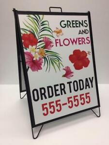 "The Ultimate Changeable A Frame/Sandwich Board Sign ... Magnetic. 3.5"" x 302 pc character set or 4 full colour prints !!"