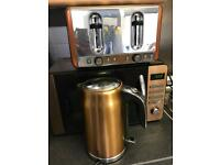 Kitchen set- microwave, kettle and toaster