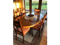 Antique Dining Room Table & 6 chairs