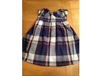 Hollister strapless cotton dress, size S