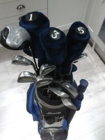 *** BEAUTIFUL FULL SET GOLF CLUBS + BRAND NEW GOLF BAG WITH HOOD + BMW UMBRELLA +++ LOADS EXTRA ***