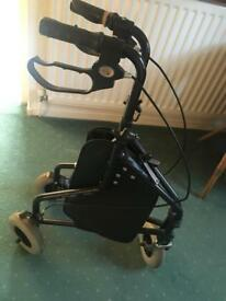 Black aided walker