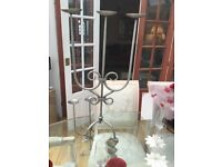 Large Pair of beautiful silver Candle holders