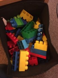 Mixed Selection Mega Blocks all different colours