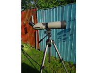 spotting scope Kowa TSN-821 82mm Angled Spotting Scope 32X Wide Angle Eyepiece stay on case tripod