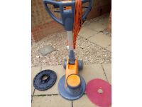 Taski Ergodisc 400 Floor Polisher, Scrubber With New Pad Holder & 1 New Red Pad