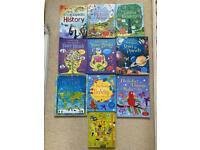 Usborne books - including lift the flap books