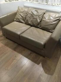 Som'toile Sofa Double Bed 2 Seater Leather