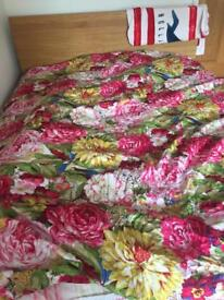 Double bed duvet cover, bed sheet and two pillows cover