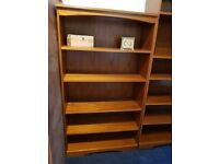 2 x Teak Retro Bookcase