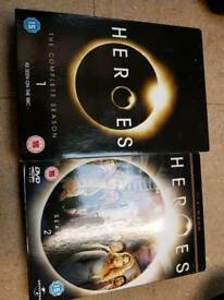 Heroes Seasons 1 and 2 DVDs