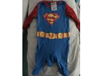 Superman baby grow 0-1 month mothercare