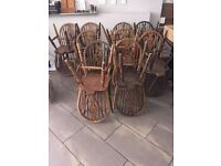 21 Solid Commercial Vintage Wheelback Dining Chairs Shabby Chic