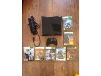 Xbox 360 S - 120GB Used with an assortment of games