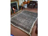 Alpaca Wool Rug 200x250cm Vintage Bolivian Artisania