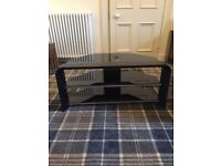 Smoked glass tv stand 38 inches wide