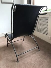 Unique iron and leather chair