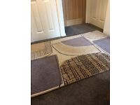 Next Rug 120x170cms with matching canvas pics x2 + 2 new with tags next geometric cushion covers