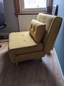 Made Haru Yellow Single sofa bed / occasional chair