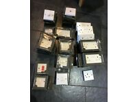 37 assort Double sockets, light switches, dimmer switches, TV aerial, cooker switch, fused sockets