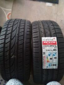 Kumho and budget tyre 235/45/18