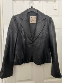 New Woman's Faux Leather Jacket - size S