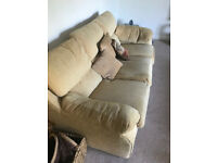 3 seater sofa and 3 chairs